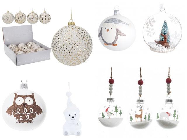 Adornos de Navidad en color blanco