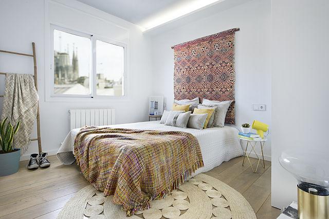Decoración de dormitorio de estilo mediterráneo