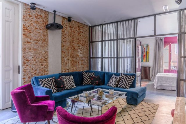 Salón en reforma de un piso antiguo en Madrid