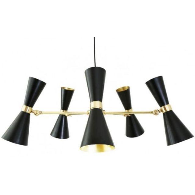 Lámpara Cairo de 5 brazos de estilo Mid Century