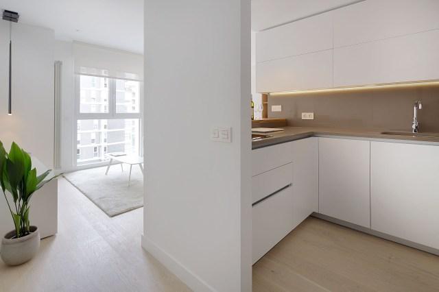 Decorar un mini piso con cocina abierta al salón