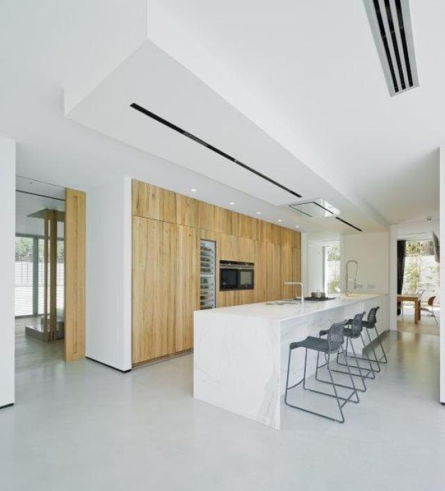 cocina de diseño minimalista y contemporáneo