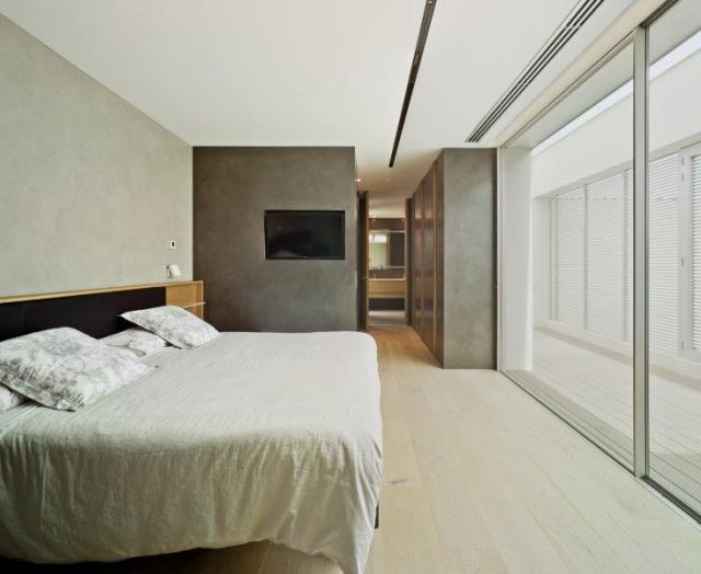 Dormitorio de diseño minimalista y contemporáneo