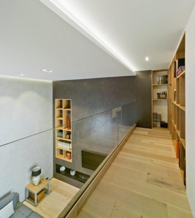 biblioteca de diseño minimalista y contemporáneo
