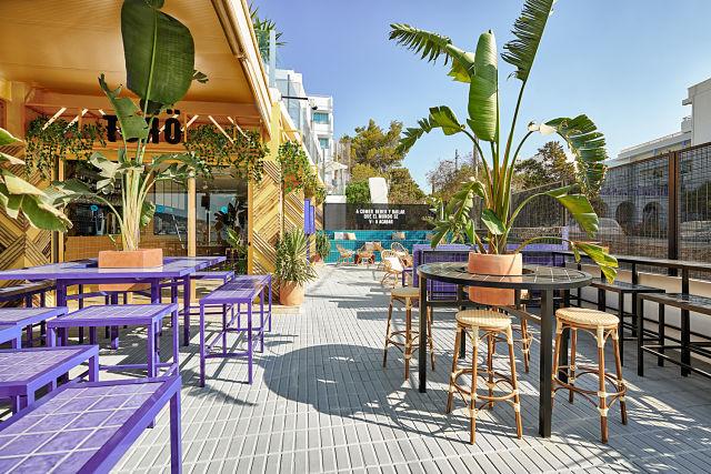 Decoración de bar Töro en Ibiza