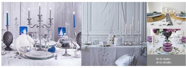 Decorar la mesa de Navidad en plata