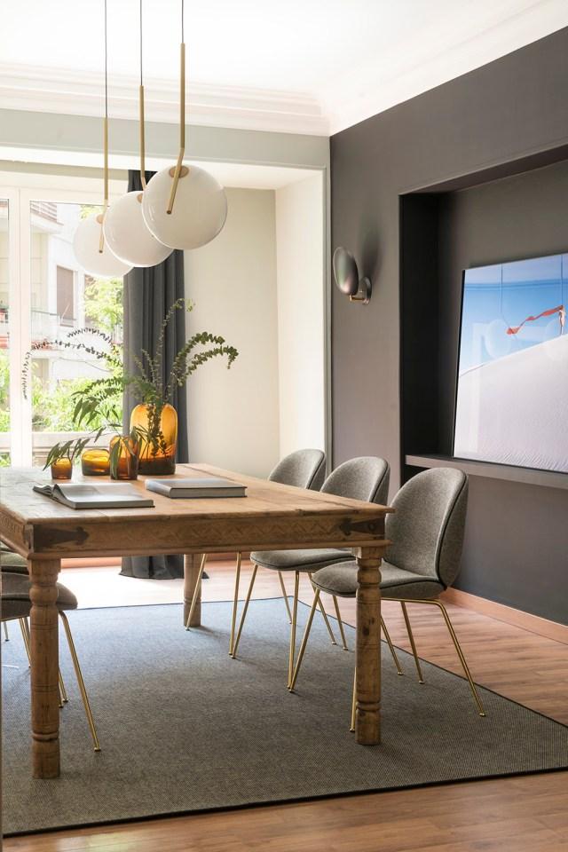 Decoración de comedor en proyecto Bori Fontestà de Room Studio
