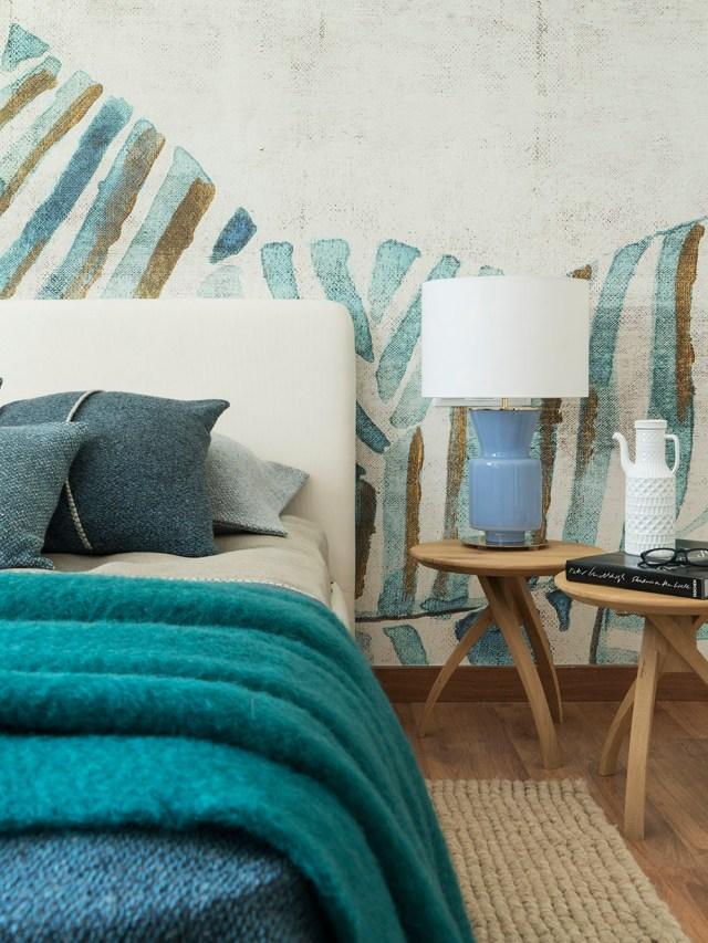 Detalle de decoración contemporánea de dormitorio