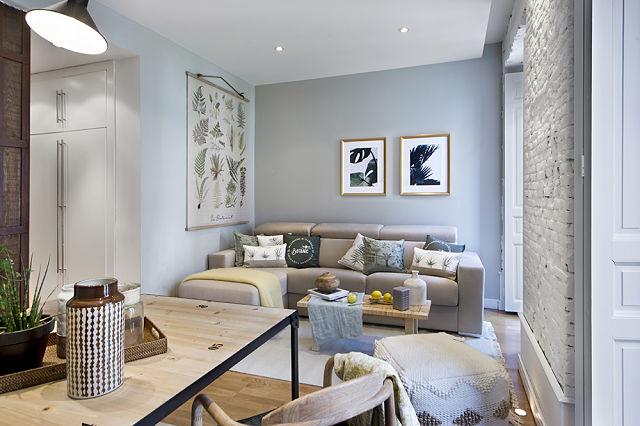 Decoración de apartamentos de estilo chic botánico