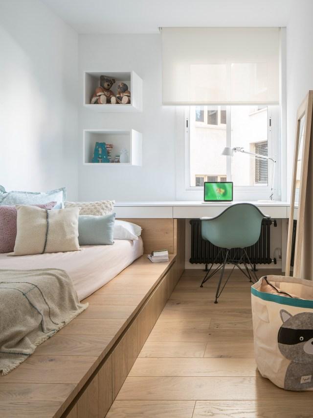 Dormitorio infantil en interiores de casas sorprendentes