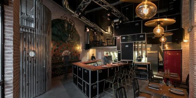 Vista general del interiorismo para restaurante Pracer