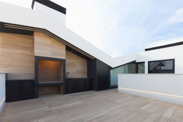 Diseño de terraza al reformar una casa de pueblo