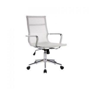 Silla de oficina de diseño con asiento de malla