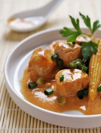 Lapin au curry rouge et citronnelle façon thaï
