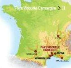 Carte Pays vidourle Camargue, Terroir Evasion