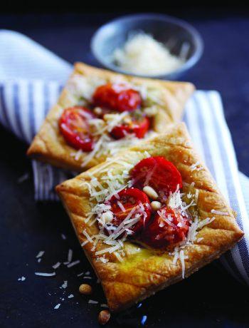 tartes tomate cerise, parmigiano-Parmesan
