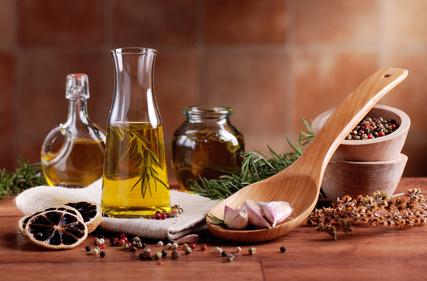 huile d'olive et aromates