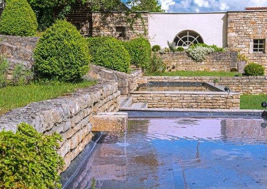 Château de Courban - Les fontaines