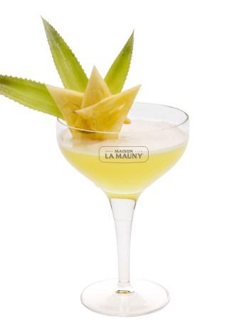 Cocktail rhum Maison-La-Mauny-Ananas-champagne