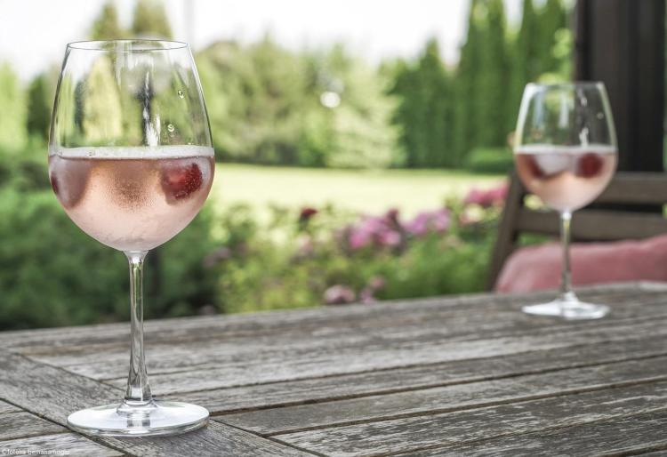 Vin rosé provence verres