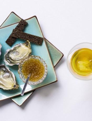 caviar au cognac et huitres de Charente Maritime