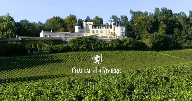 Chateau de la Rivière vignes logo