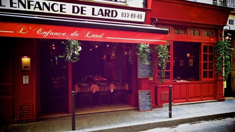 Enfance de Lard restaurant vitrine