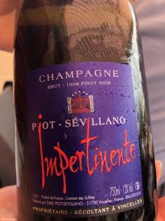 Piot Sevillano champagne Impertinente