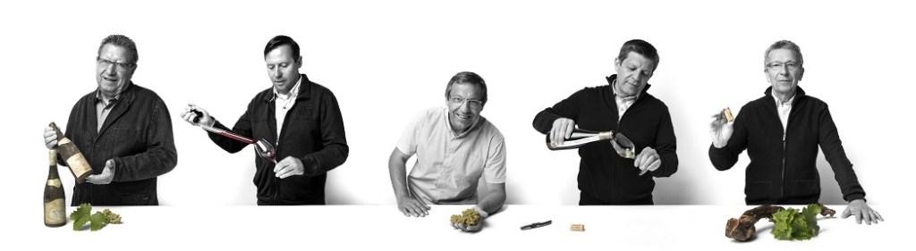 Famille Bourgeois de gauche à droite : Jean-Marie, Lionel, Jean-Christophe, Arnaud, Raymond.