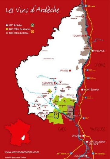 Les vins d'Ardèche Carte