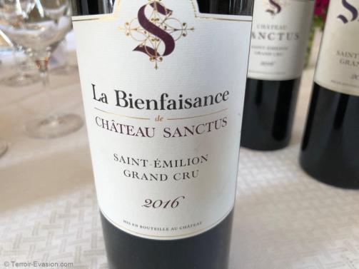 Château Sanctus - La Bienfaisance 2016
