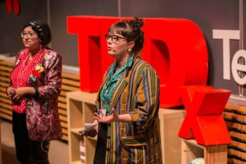 Alex Mierke-Zatwarnicki and Urooba Jamal at TEDx Terry Talks 2014 | Photo by Sruthi Sreedhar