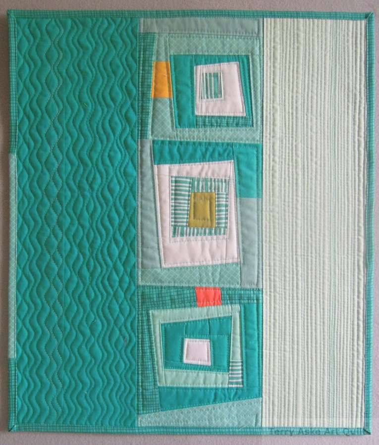 Mostly Teal Front Terry Aske Art Quilt Studio