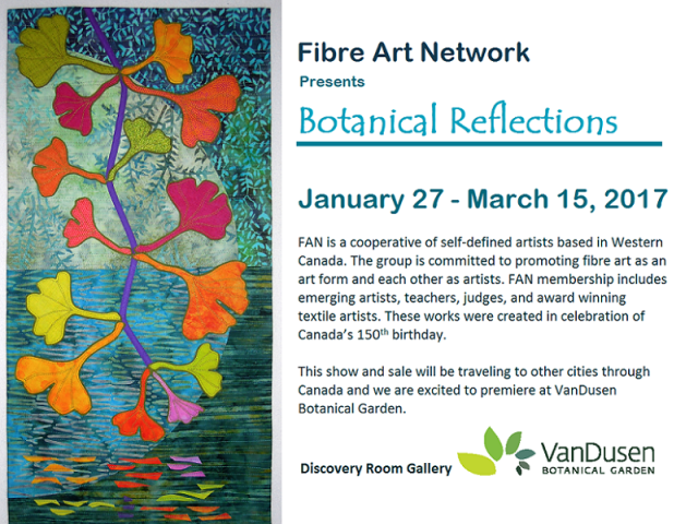 Botanical Reflections at Vandusen Gardens - poster