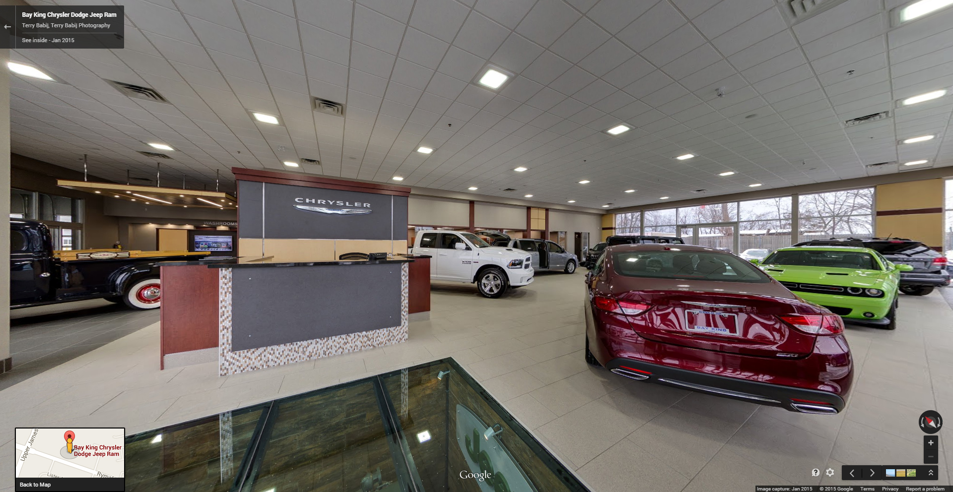 Auto Dealer, Bay King Motors, Google Maps Business View