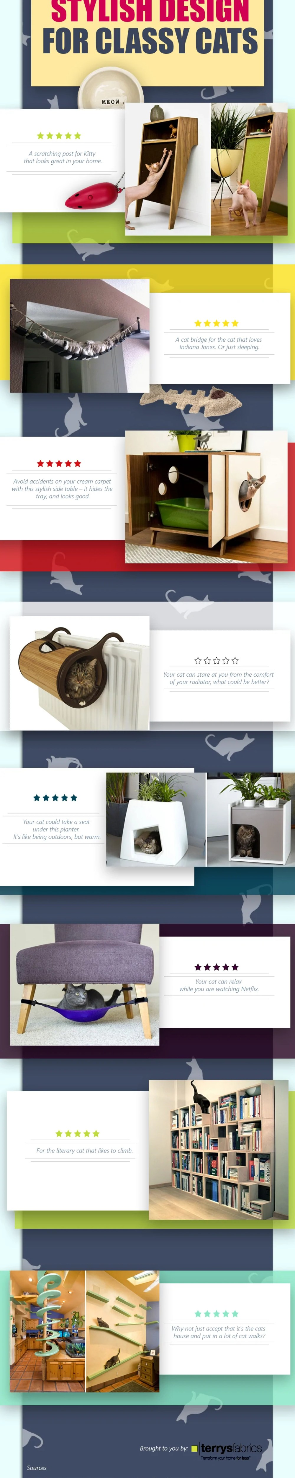 Stylish design for classy cats
