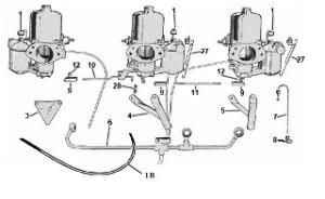Carburetor Linkage: Terrys Jaguar Parts