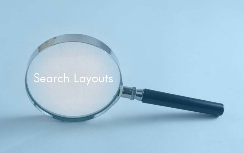 search layouts