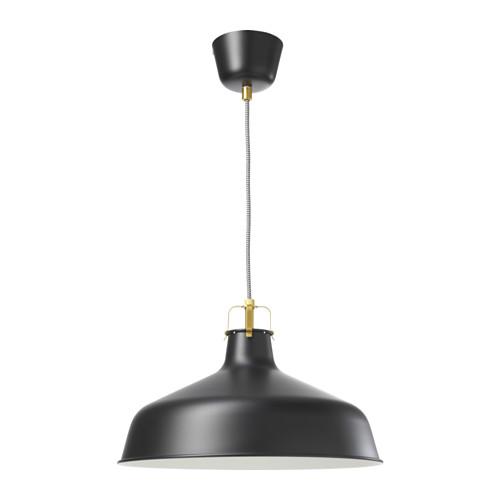 lámparas de diseño industrial ikea ranarp negra
