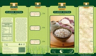 Deroni - rice packaging