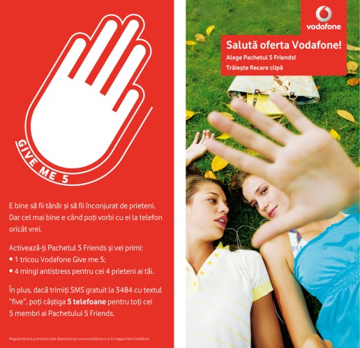 Vodafone - Student GiveMe5 Flyer