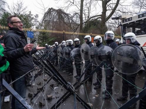 La Capitale - photo - Cristian Samoila, Manifestation des syndic