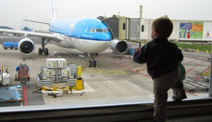 Het afscheid op Schiphol