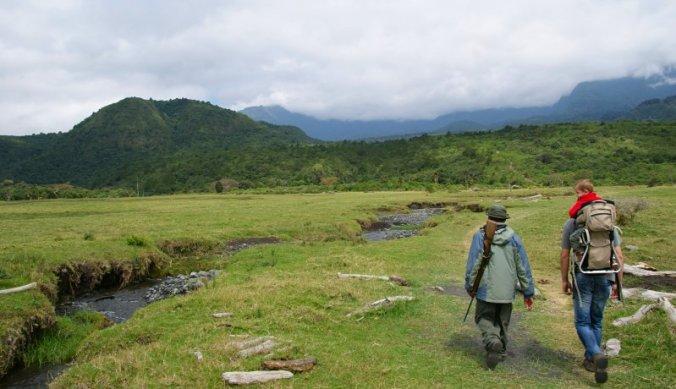 Safari walk in Arusha National Park