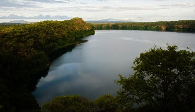 Lake Chala in Tanzania