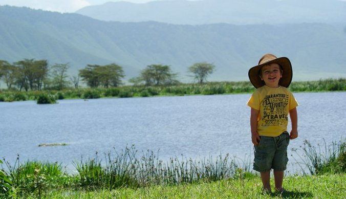 Julian in de Ngorongoro Crater