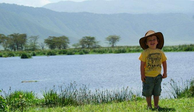 Julian in de Ngorongoro Crater