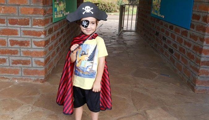 Verkleed als Piet Piraat tijdens de Wereld Boekenweek