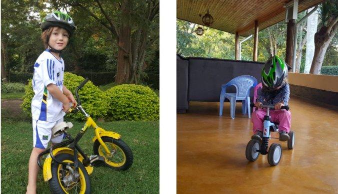 Op de fiets tijdens de vakantie