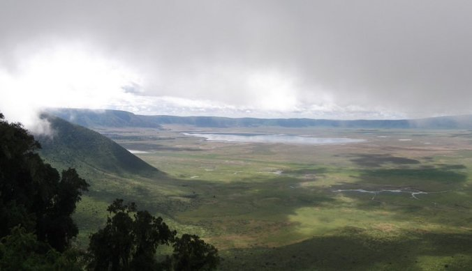 Ngorongoro krater waar vliegtuig is neergestort